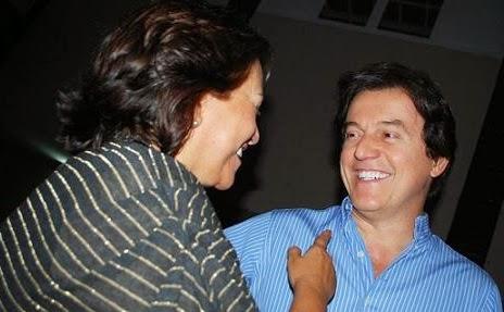 Fátima e Robinson têm motivos para largo sorriso (Foto: Sem autoria identificada)