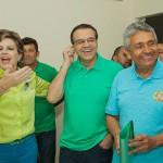 Fafá, Henrique e Leonardo na campanha de 2014: PMDB fragilizado (Foto: campanha)
