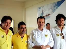 Robinson, Francisco, Kassab e Fábio: pressão e mãos abanando (Foto: PSD)