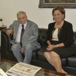 Garibaldi e Rosalba em Brasília (ontem): reengenharia feita esquadrinhando a política do RN (Foto: cedida)