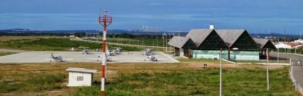 Aeroporto Dragão do Mar de Aracati é um dos equipamentos regionais implantados por governo cearense (Foto:arquivo)