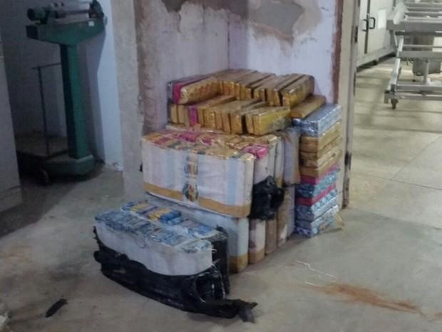 Grande apreensão de variadas drogas foi feita em janeiro do ano passado (Foto: divulgação)
