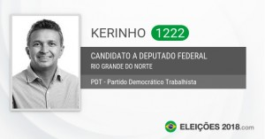 """""""Kerinho"""", em página oficial do TSE, seria servidor, sem se desincompatibilizar do cargo, em plena campanha (Reprodução BCS)"""