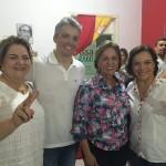Rosalba, Sandra, Lahyrinho, Larissa em anúncio de apoio à chapa de Rosalba em 4 de agosto de 2016 (Foto: arquivo)