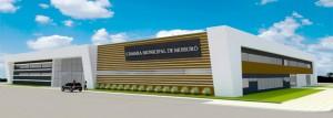 Maquete de nova sede da Câmara Municipal foi apresentada em outubro de 2017 (Foto: reprodução)