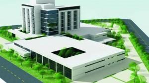 Maquete do hospital cearense (Reprodução BCS)