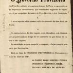 Decreto do governo provisório que extinguia o imposto sobre a carne (Reprodução da Biblioteca Nacional)