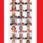 O Portal do Oeste fez fotomontagem com identificação dos vereadores e respectivos partidos