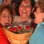 Rosalba, Cláudia e a então prefeita Fafá Rosado em 2012, num sorriso desbragado, que o fio da história segue movimentando (Foto: Ricardo Lopes)