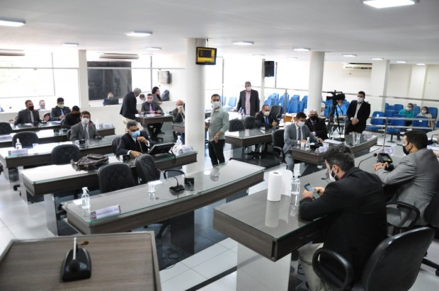 Plenário da Câmara Municipal de Mossoró tem atualmente 21 vereadores (Foto: Edilberto Barros)