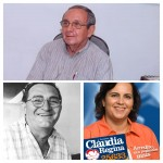Manoel Barreto apareceu em destaque em pesquisa, mas foi preterido; Vicente teve compromisso que não foi cumprido e Cláudia foi descartada no dia da convenção (Fotomontagem BCS)