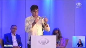 Leocádio em debate na campanha do ano passado (Foto: arquivo)