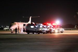 Novo grupo foi recebido em aeroporto nesse sábado (Foto: Robson Araújo)