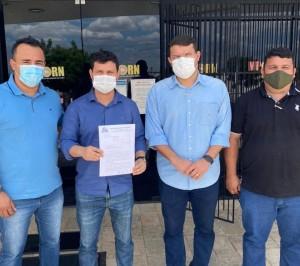 Paulo Igo,  Cabo Tony Fernandes, Lawrence Amorim e Marckuty da Maisa no MP (Foto: divulgação)