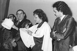 Prefeito Dix-huit Rosado, Maria Gomes e o presidente da Furrn, Canindé Queiroz (Foto: arquivo)