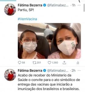 Fátima deu informação em redes sociais Foto: reprodução BCS)