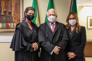Érika, Gilson e Ticiana: posse (Foto: TRE/RN)