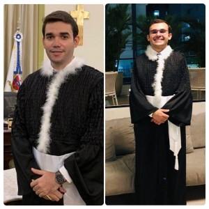 Walter e João Paulo: magistratura (Fotos: Web)