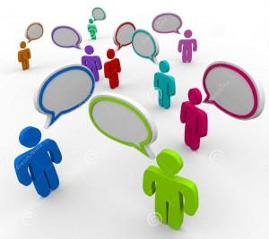 Comunicação, diálogo, conversa, marketing, redes sociais