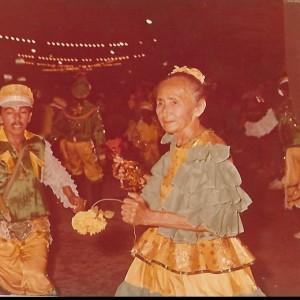 Cristina dos Pimpões, um símbolo do carnaval de rua de Mossoró (Foto: Web)
