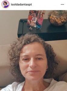 Isolda: em casa (Foto: redes sociais)