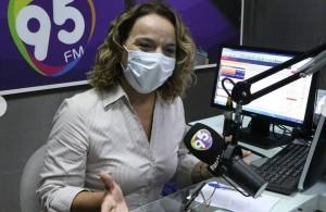 Larissa: cabeça de chapa (Foto: FM 95)