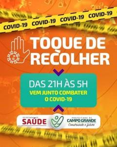 Prefeitura Municipal de Campo Grande - Toque de Recolher de 25 de Fevereiro a 10 de março