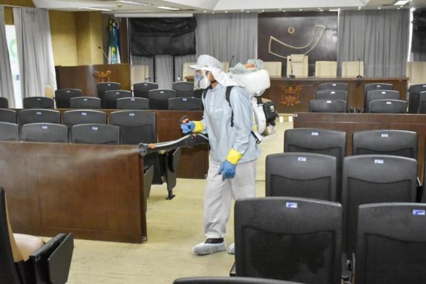 Assembleia Legislativa, sanitização do plenário e outras dependências da sede desse poder - 04-03-21