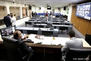 Plenário e sistema remoto aprovaram projetos (Foto: Elpídio Jr.)