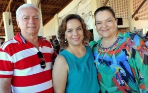 Laíre, Larissa e Sandra: preocupação (Foto: redes sociais)