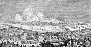 Ilustração de uma cidade da Idade Média (Reprodução)