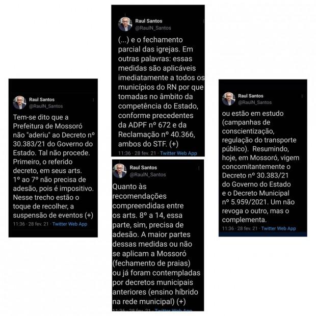 Postagens do procurador ocorreram nesse domingo (28 de março)