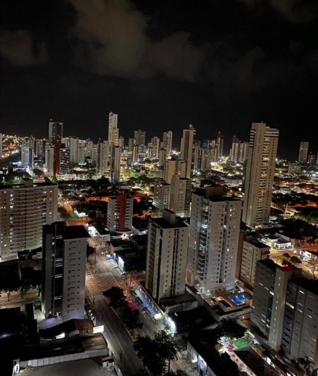 Noite em Natal nesse sábado (6), em registro feito por Léo Souza em suas redes sociais