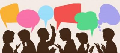 diálogo, vocabulário, conversa,