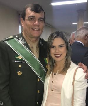 General Paulo Sérgio e aex-vice-prefeita Nayara Gadelha (Foto: redes sociais)