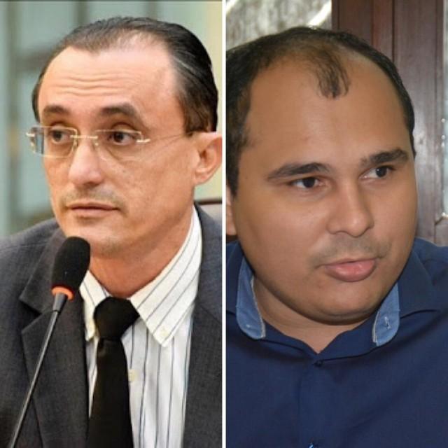 Souza e o vereador Diogo são os principais investigados na Operação Fura-fila deflagrada hoje (Fotomontagem BSV)