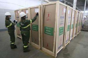 Refrigeradores científicos continuam sendo distribuídos (Foto: Canindé Soares)