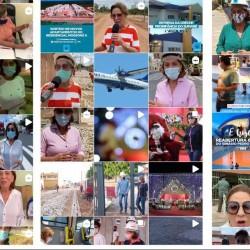 """Dezenas de postagens, em poucos dias, com a """"Rosa"""" sempre divulgando a própria imagem em espaço público (Fotomontagem BCS)"""