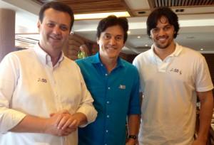 Gilberto Kassab (dirigente nacional do PSD), Robinson e Fábio (Foto: Web/arquivo)