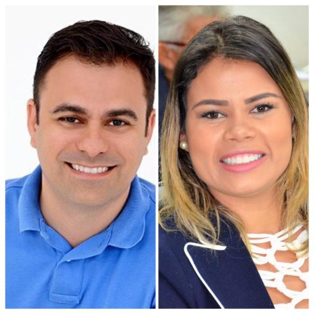 """Ítalo de Brito Siqueira (PSDB) e Rhalessa Cledylane Freire dos Santos (PTN) – """"Rhalessa de Clênio"""": liberdade (Fotomontagem Canal BCS)"""