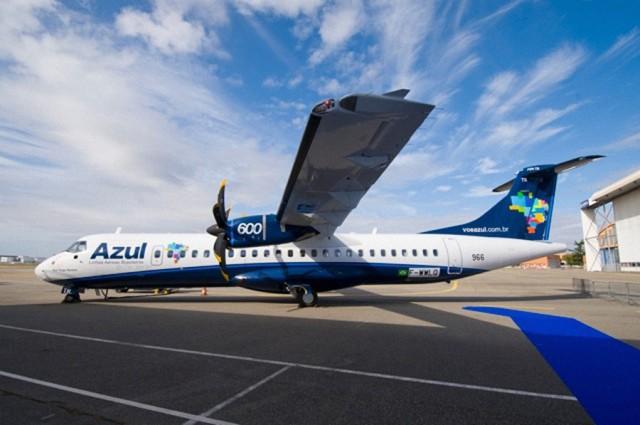 Aeronave ATR 72-600 da Azul Linhas Aéreas já faz trajeto Recife-Mossoró-Recife (Foto: arquivo)