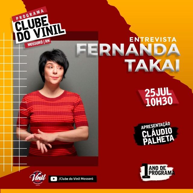 Clube do Vinil com Fernanda Takai 25 de Julho de 2021