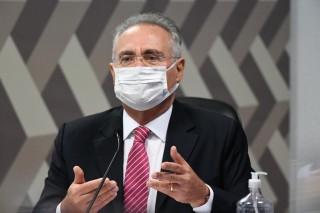 O senador Renan Calheiros (MDB-AL) durante sessão da CPI da Covid (Foto: Jefferson Rudy/Agência Senado)