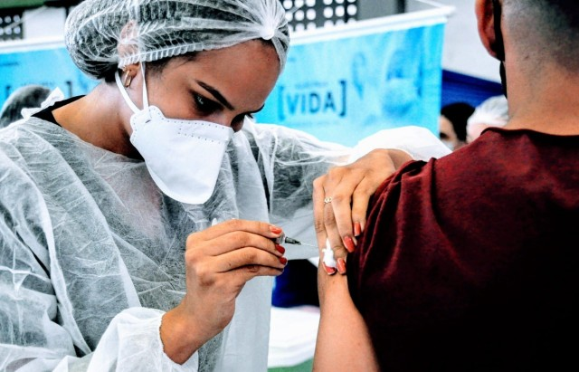 Vacinação seguiu nova etapa no fim de semana em Mossoró (Foto: Wilson Moreno)
