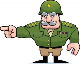 apontar-geral-militar-dos-desenhos-animados-51421807
