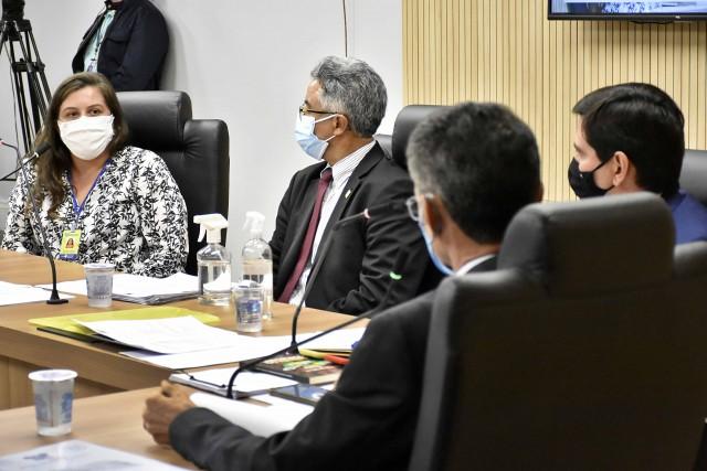 A assistente técnica da Secretaria de Estado da Saúde Pública do RN (SESAP), Vanessa Dantas Martins, foi sabatinada hoje (Foto: Eduardo Maia)