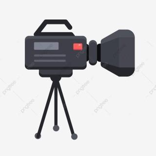 Câmera, ilustração de câmera em transmissão ao vivo