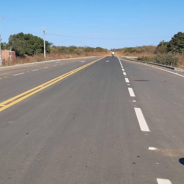 Encontro da Estrada do Melão etapa III com a BR 437 - Estrada do Cajueiro na comunidade rural de Boa Sorte (Foto: Josivan Barbosa)