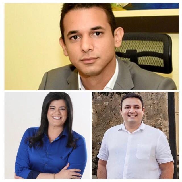Allyson, Marianna e Tadeu estreiam no executivo e têm crescente peso político (Fotomontagem BCS)