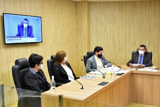 Hoje teve mais uma reunião com depoimentos da CPI da Covid-19 (Foto: AL)